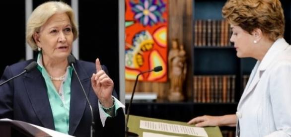 Ana Amélia detona carta de 'despedida' de Dilma