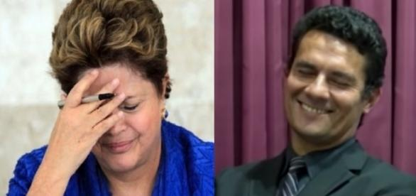 Dilma e Sérgio Moro - Foto/Montagem