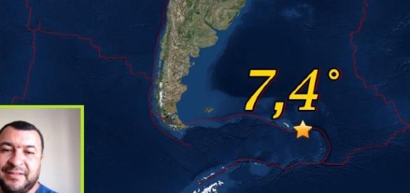El sismo tuvo una magnitud preliminar de 7.7°, minutos más tarde fue rebajado a 7,4°
