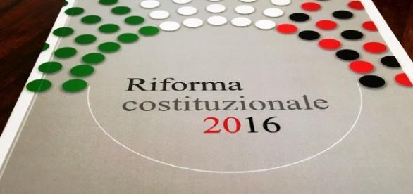 Grafico sulla riforma costituzionale di Italia.