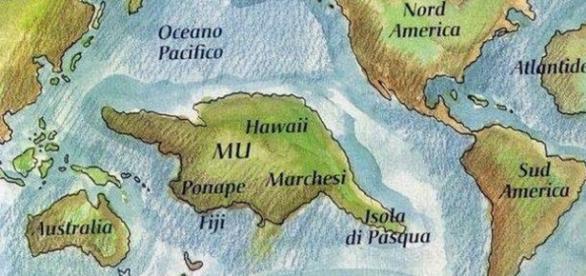 Ilustração do mundo após a separação da pângea.