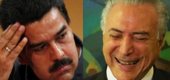 Nicolás Maduro e Michel Temer - Foto/Montagem