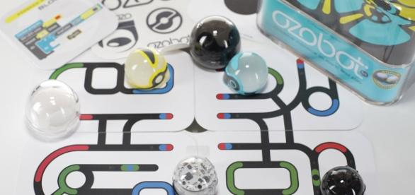 The Ozobot is a very tech-savvy robotic toy that behaves like a pet. / Photo via Christine Kim, Konnect Agency PR. Used with permission.