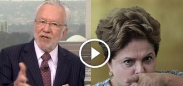 Alexandre Garcia e Dilma Rousseff