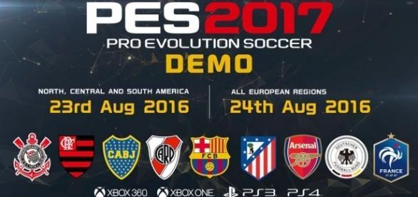 Demo de PES 2017 disponível para download