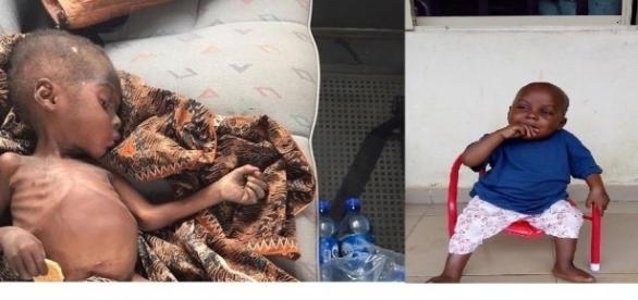 Imagens relatam momentos antes e depois do garoto ser resgatado