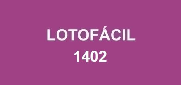 Prêmio de R$ 1,7 milhão no resultado da Lotofácil 1402