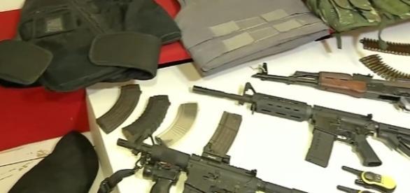 Armas apreendidas com bandidos