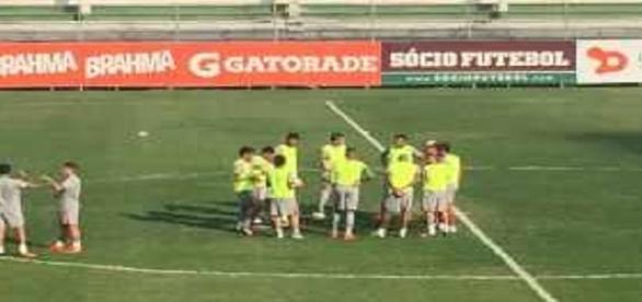 Fluminense está pronto para encarar o Santa Cruz (Foto: Net Flu)