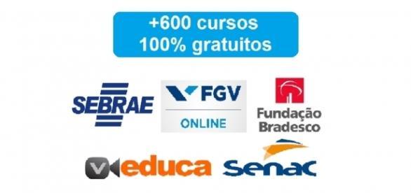 Mais de 600 cursos gratuitos em diversas instituições