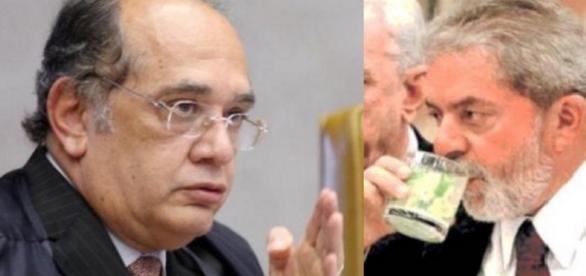 Gilmar Mendes e Lula - Foto/Montagem