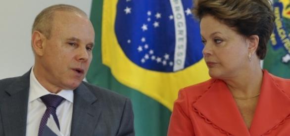 Guido Mantega e Dilma Rousseff - Foto/Reprodução