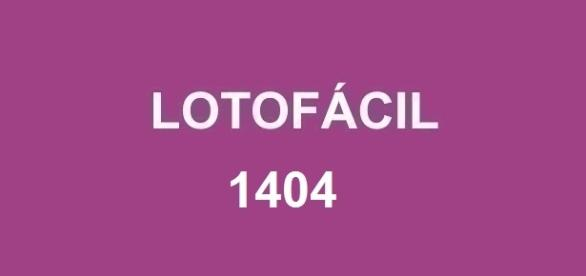 Resultado da Lotofácil 1404 será divulgado nessa segunda-feira, dia 22