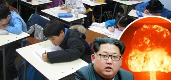 Școlile din Coreea de Nord pregătesc copii pentru o posibilă catastrofă nucleară