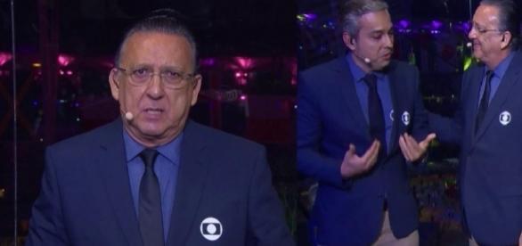 Galvão Bueno se emociona ao vivo