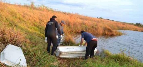 Grávida encontrada morta em represa, o bebê foi retirado