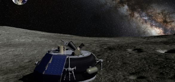 Moon Express MX-1 lander on the lunar surface