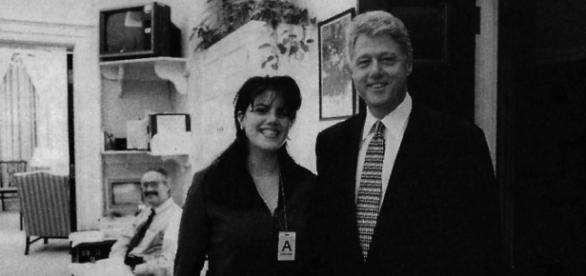 O ex-presidente americano Bill Cinton com a ex-estagiária da Casa Branca, Monica Lewinsky