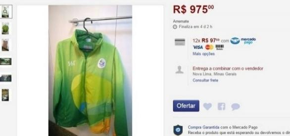 Ex-voluntários vendem uniformes na internet