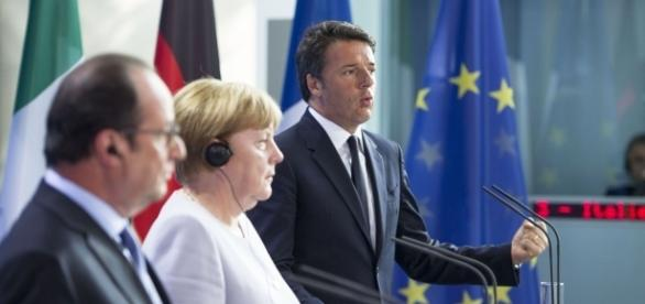 Hollande, Merkel, Renzi: colonne dell'UE post-Brexit