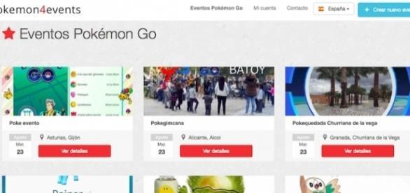 Pokemon4Events, una web para crear quedadas de Pokemon GO!