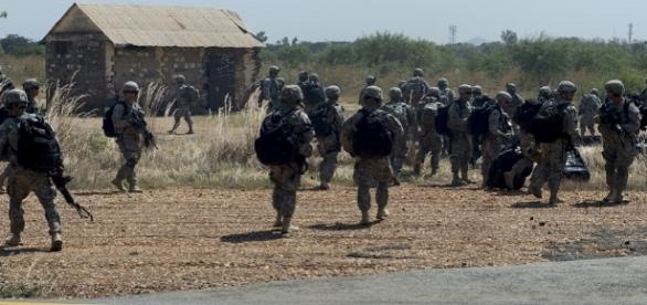 Soldados del ejército de Sudán del Sur