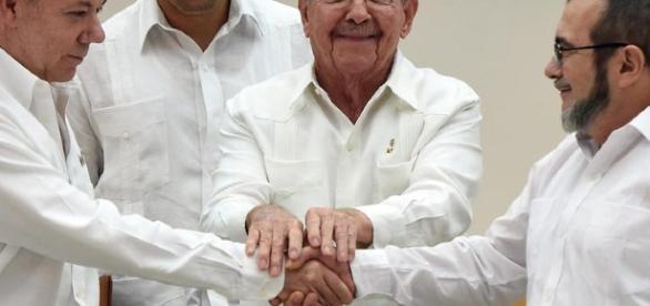 Accordo di pace tra governo Colombiano e forze armate rivoluzionarie.