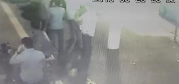 Flagrante registrado pelas câmeras de segurança