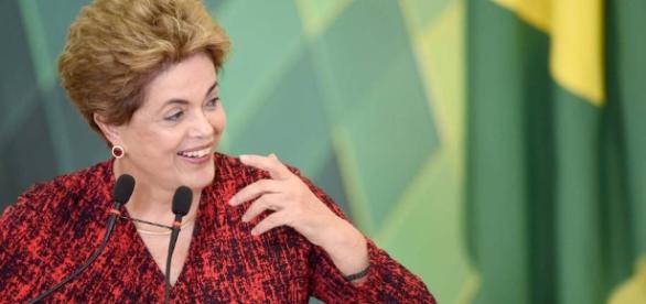 Foto: Dilma, Presidente afastada.
