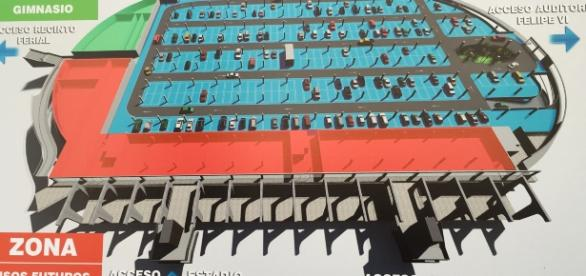 Proyecto municipal Aparcastadium - aparcamiento para 836 vehículos