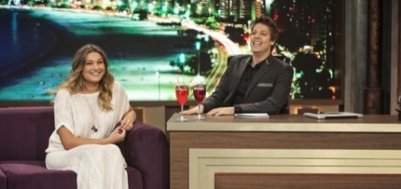 Sasha deu muitas risadas ao lado do humorista Fábio Porchat