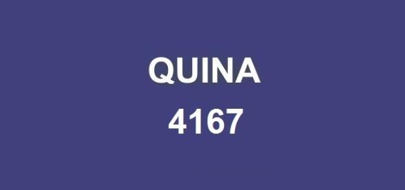 Detalhes sobre a divulgação do resultado da Quina 4167