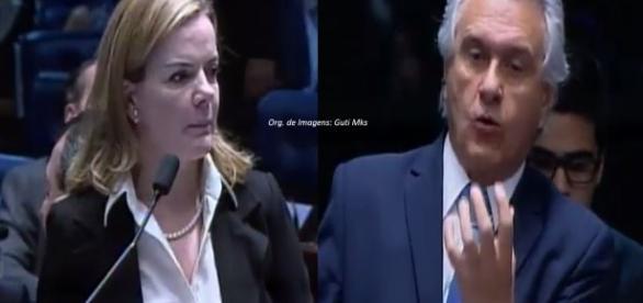 Gleisi Hoffmann e Ronaldo Caiado
