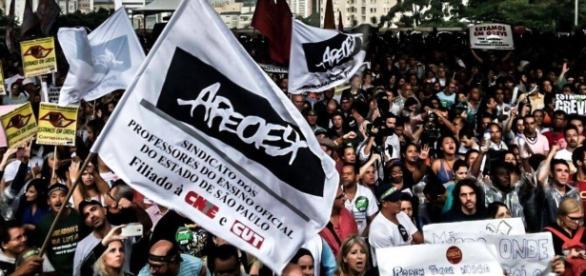 Greve dos professores paulistas em 2015