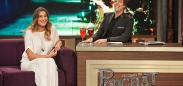 Porchat entrevistou Sasha Meneghel na estreia
