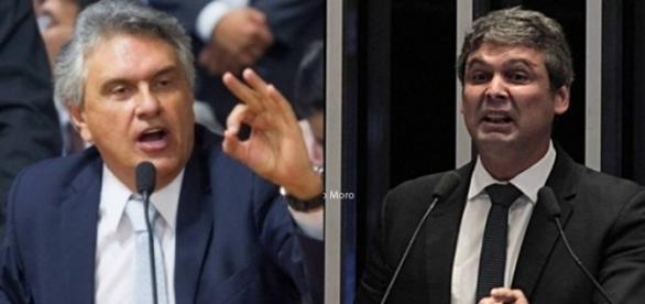 Ronaldo Caiado e Lindbergh Farias discutiram no Senado Federal