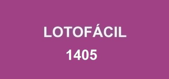 Sorteio 1405 da Lotofácil realizado nesta quarta-feira, dia 24