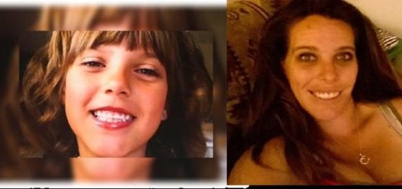 Imagens da menina assassinada com ajuda dos familiares