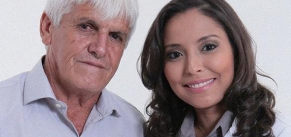 A médica Aline de Castro Pereira com o pai, o gari Tales Pereira