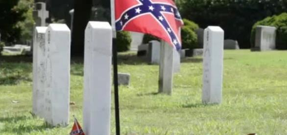 Confederate Flags Banned From Cemeteries - screencap via YouTube - youtube.com
