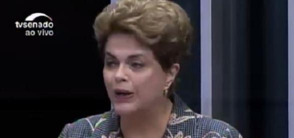 Dilma Rousseff chorou durante seu depoimento