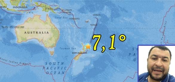 Preliminarmente se calculó la magnitud del terremoto en 7.2°, unos minutos más tarde, USGS corrigió la magnitud en 7.1°