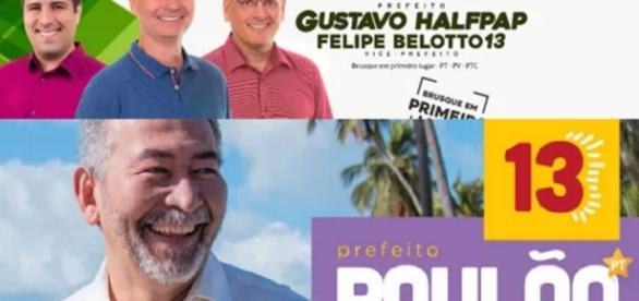 PT tem candidatos mudando a cor da legenda