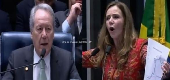 Vanessa se exaltou e foi repreendida pelo presidente do STF