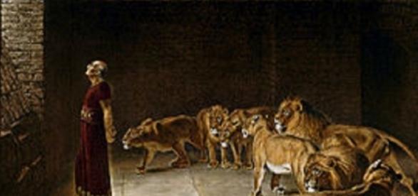 1892 (Daniel in the Lions Den) D'après Briton Rivière —