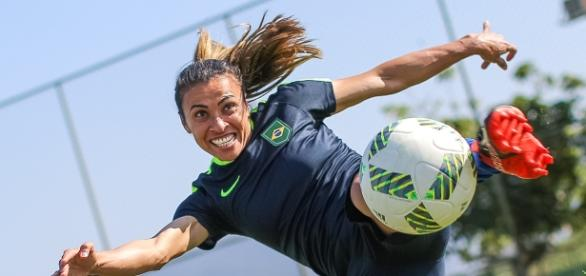 Marta, eleita cinco vezes melhor jogadora do mundo, vem para o Rio 2016 em busca do ouro (Ricardo Stuckert/CBF)
