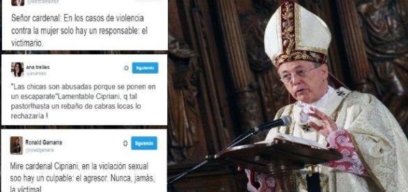Tuits diciendo cuatro verdades a las palabras machistas del Cardenal peruano Juan Luis Cipriani, del Opus Dei.