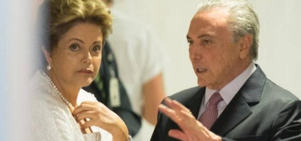 Dilma Rousseff e Michel Temer - Foto/Montagen