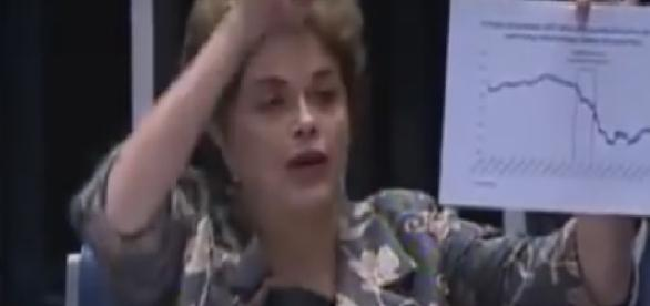 Dilma Rousseff se confundiu com formas geométricas