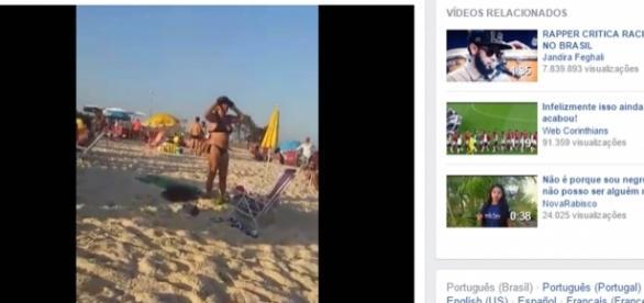 Polícia não divulgou nome da mulher que xinga banhista com palavras racistas
